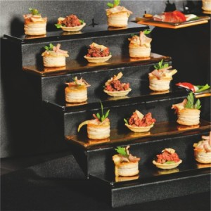 staircase-buffet-display
