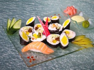 Glass Studio minimalist plates for Sushi Club by Sensi, Warsaw